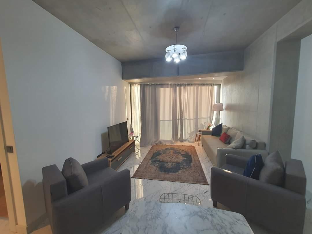 اعلان982شقة غرفتين نوم وصالة مفروش لوكس إيجار السنوي ضمن مجمع سين-باش-كوين بومانتي في شيشلي اسطنبول