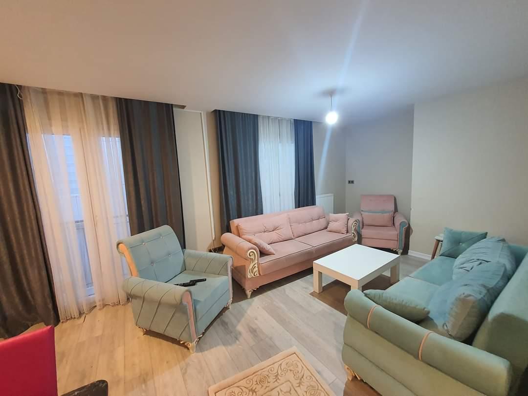 اعلان988شقة غرفتين نوم وصالة دوبليكس حمامين مفروش للايجار السياحي قريب من مول جواهر في شيشلي اسطنبول